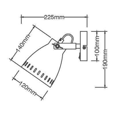 Размеры светильника HN5050-1K