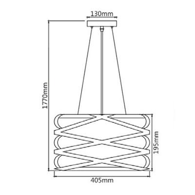 Размеры светильника HN8069A